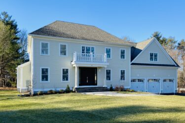 Photograph of Front Exterior at 22 Hedgerow Lane, Westwood MA