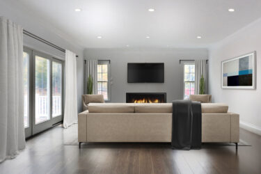 Photograph of Living Room at 25 Hedgerow Lane, Westwood MA