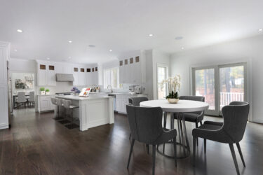 Photograph of Kitchen and Breakfast Nook at 25 Hedgerow Lane, Westwood MA