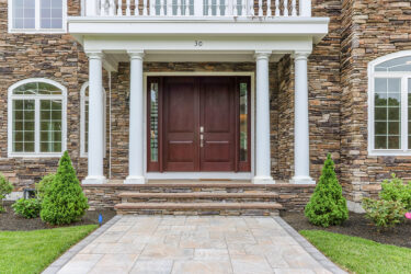 Photograph of Front Entry at 30 Hedgerow Lane, Westwood MA