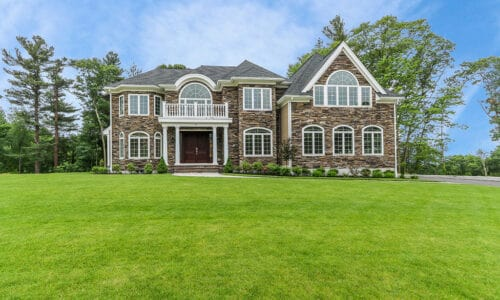 Photograph of Front Exterior at 30 Hedgerow Lane, Westwood MA