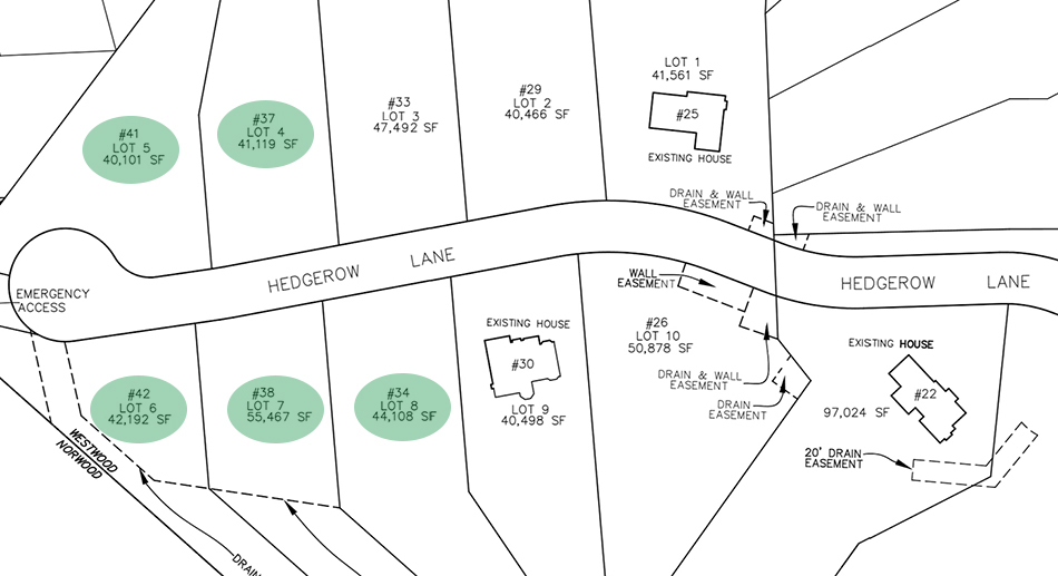 Plot Plan of Westwood Estates