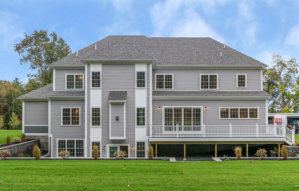 Photograph of Back Exterior of 29 Hedgerow Lane, Westwood MA